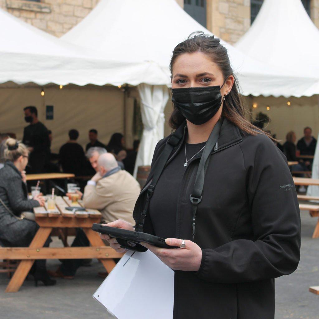 Host at the Holyrood Distillery Courtyard Bar